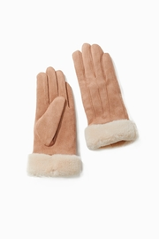Look by M Brushed Fur Trim Glove - Front cropped