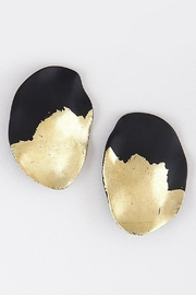 wildflower Brushed-Gold Black-Metal Earrings - Product Mini Image