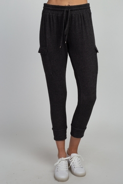 Olivia Graye Brushed Hacci Cargo Joggers - Product List Image