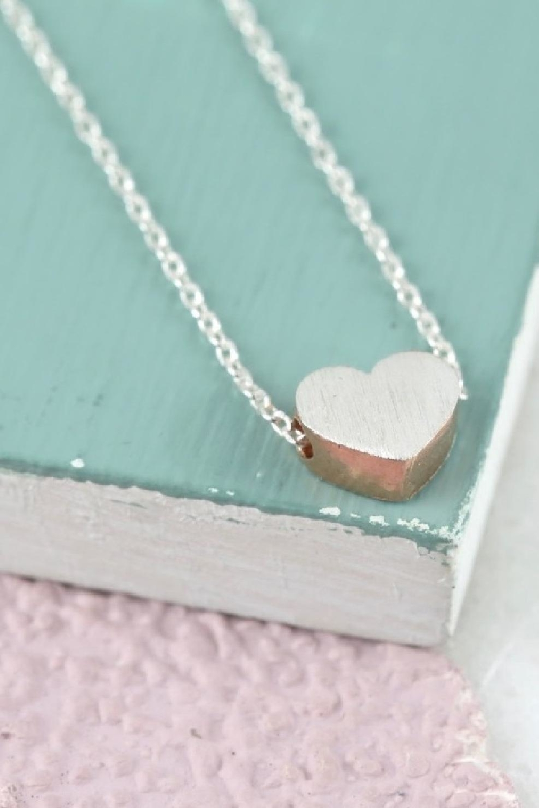 Pink Poodle Boutique Brushed Heart Necklace - Main Image