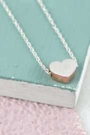 Pink Poodle Boutique Brushed Heart Necklace - Front cropped