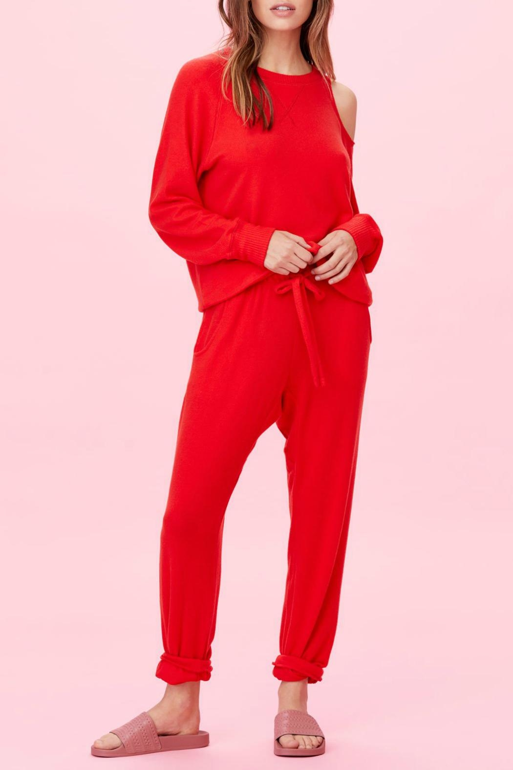 LNA Brushed Heart-On-My-Sleeve Sweater - Side Cropped Image