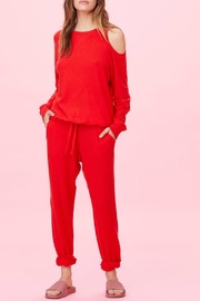 LNA Brushed Heart-On-My-Sleeve Sweater - Front cropped