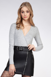 Dex Brushed Heather Criss Crop Top - Product Mini Image