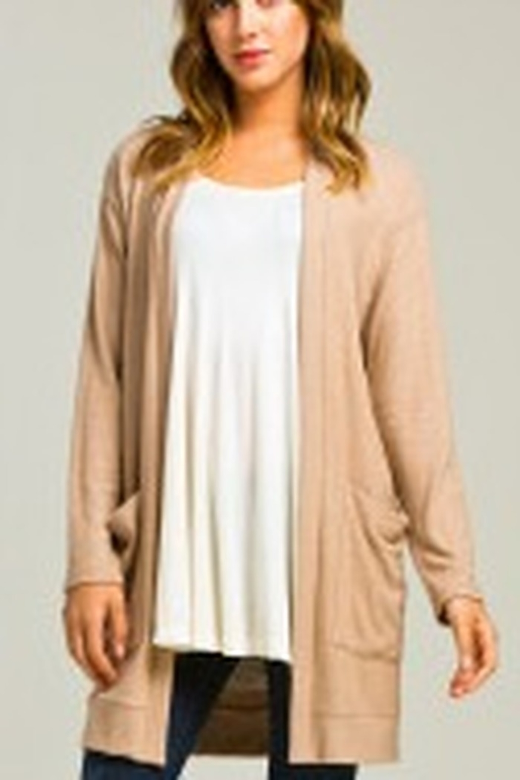 Lyn-Maree's  Brushed Intermingle Pocket Cardigan - Front Cropped Image