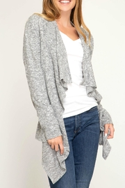 She + Sky Brushed Knit Cardigan - Product Mini Image