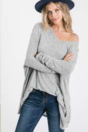 Fashion District LA Brushed Knit Oversized V Neck - Product Mini Image