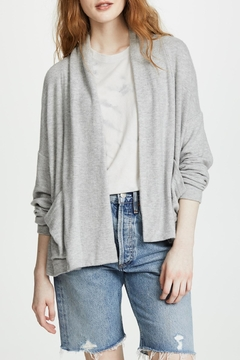 Three Dots Brushed-Knit Shawl Cardigan - Product List Image