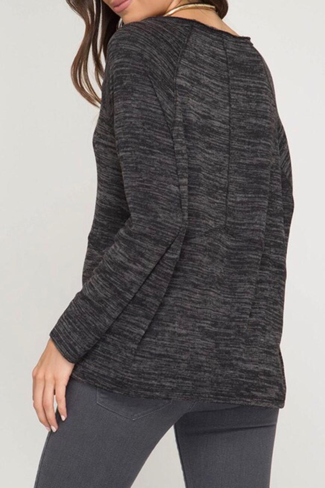 LuLu's Boutique Brushed Knit Top - Front Full Image
