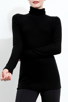 Three Dots Brushed Knit Turtleneck Sweater - Product List Image