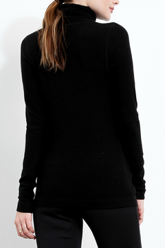 Three Dots Brushed Knit Turtleneck Sweater - Alternate List Image
