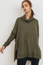 POL Brushed Knit Turtleneck Tunic - Product Mini Image