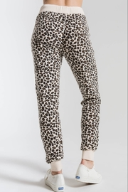 z supply Brushed Leopard Jogger - Front full body