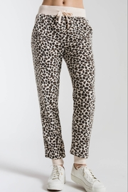 z supply Brushed Leopard Jogger - Front cropped