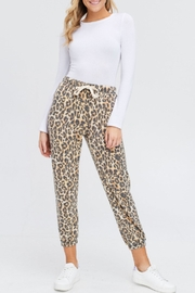 Maronie  Brushed Leopard Joggers - Product Mini Image