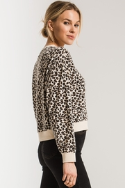 z supply Brushed Leopard Pullover - Back cropped