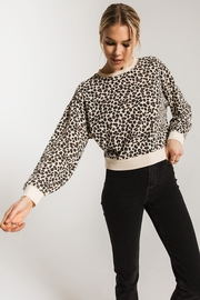 z supply Brushed Leopard Pullover - Front cropped