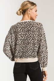 z supply Brushed Leopard Pullover - Side cropped