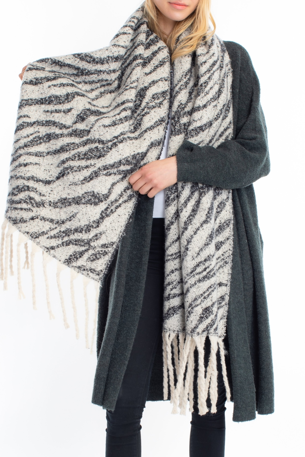 Look by M Brushed leopard scarf - Main Image