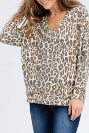 Maronie  Brushed Leopard Sweatshirt - Product Mini Image
