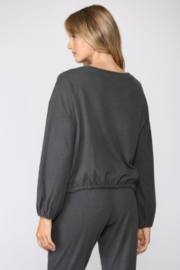 Fate Brushed Loungewear Top - Front full body