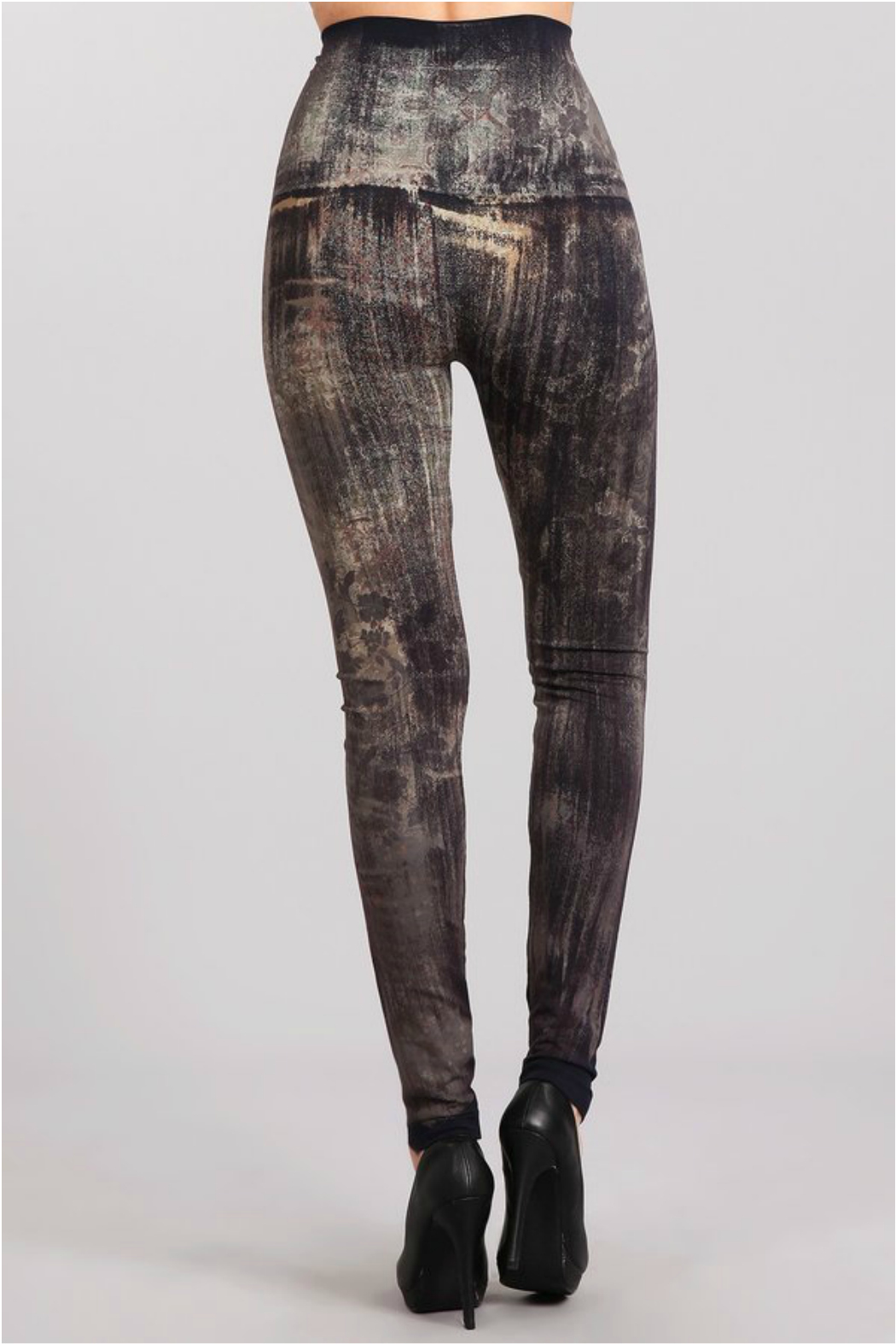 M. Rena Brushed Moroccan Damask Sublimation legging - Side Cropped Image