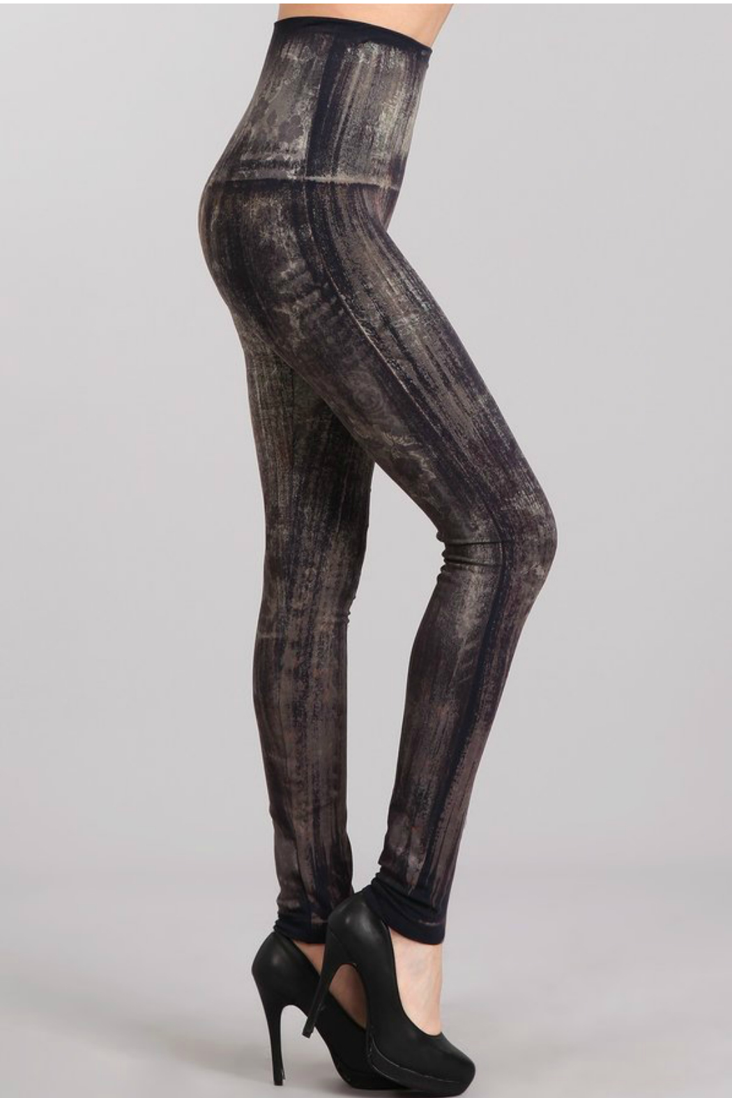 M. Rena Brushed Moroccan Damask Sublimation legging - Front Full Image