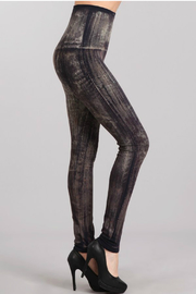 M. Rena Brushed Moroccan Damask Sublimation legging - Front full body