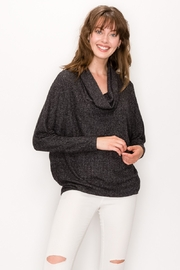 ENTI Brushed Ribbed Cowl Neck Top - Product Mini Image