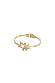 Back in Love Brushed silver double star bracelet - Product Mini Image