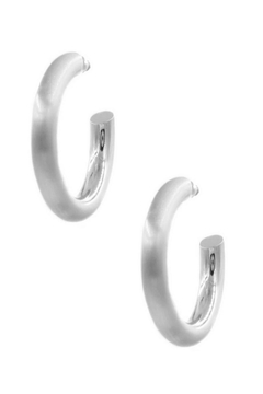 Shoptiques Product: Brushed Silver Hoop