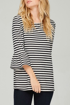 Lime n Chili Brushed Striped Top - Alternate List Image