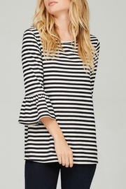 Lime n Chili Brushed Striped Top - Product Mini Image