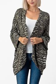 Yahada BRUSHED ZEBRA SHRUG CARDIGAN - Product Mini Image