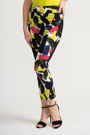 Joseph Ribkoff Brushstroke Cropped Pants, Multi - Front cropped