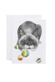Central & Gus Brutus Banger Cat Greeting Card - Product Mini Image