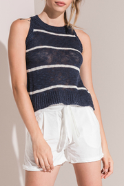 rag poets Bryce Striped Knit Tank - Product Mini Image