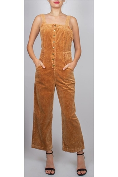 Shoptiques Product: Bryn Button-Front Corduroy-Overalls