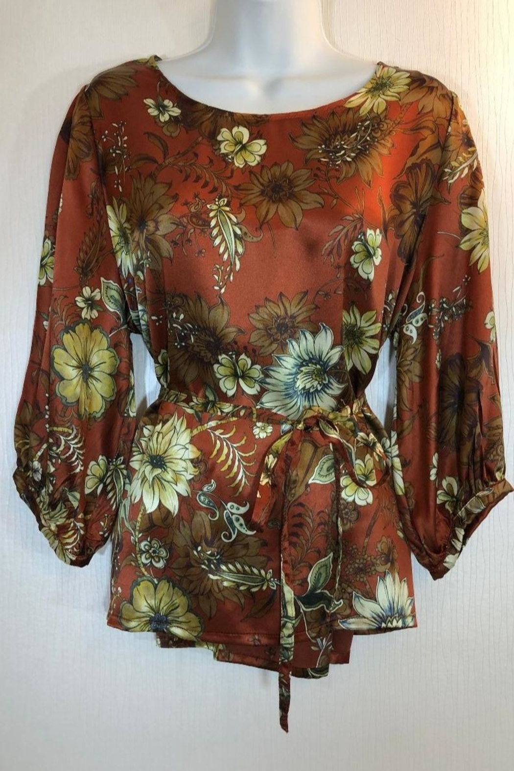 Bryn Walker Print Silk Top - Front Full Image