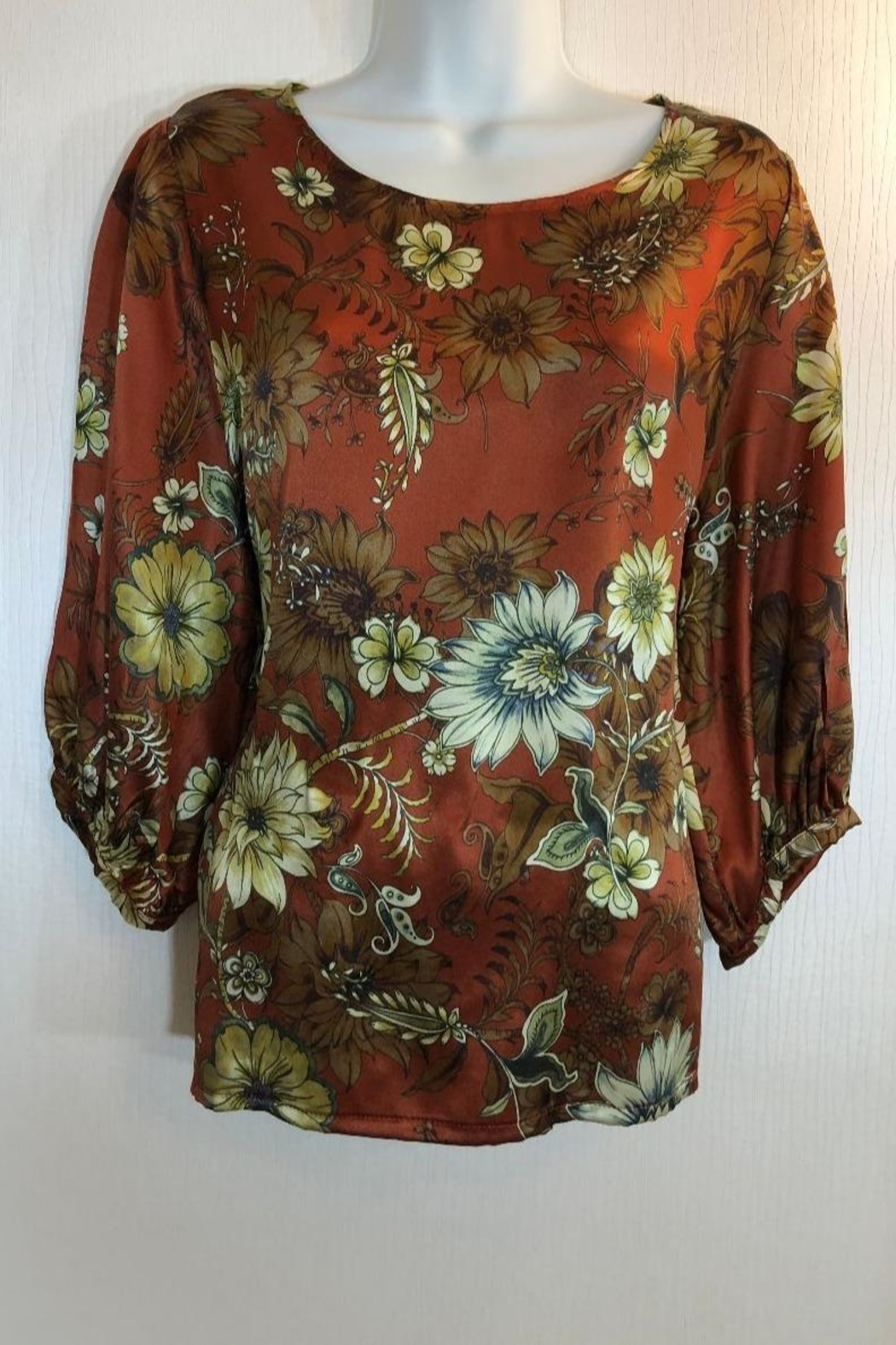 Bryn Walker Print Silk Top - Main Image