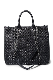 Steven by Steve Madden Bstacy Woven Tote - Front cropped