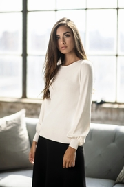 POSE by FAME BUBBLE CUFF SWEATER - Front cropped