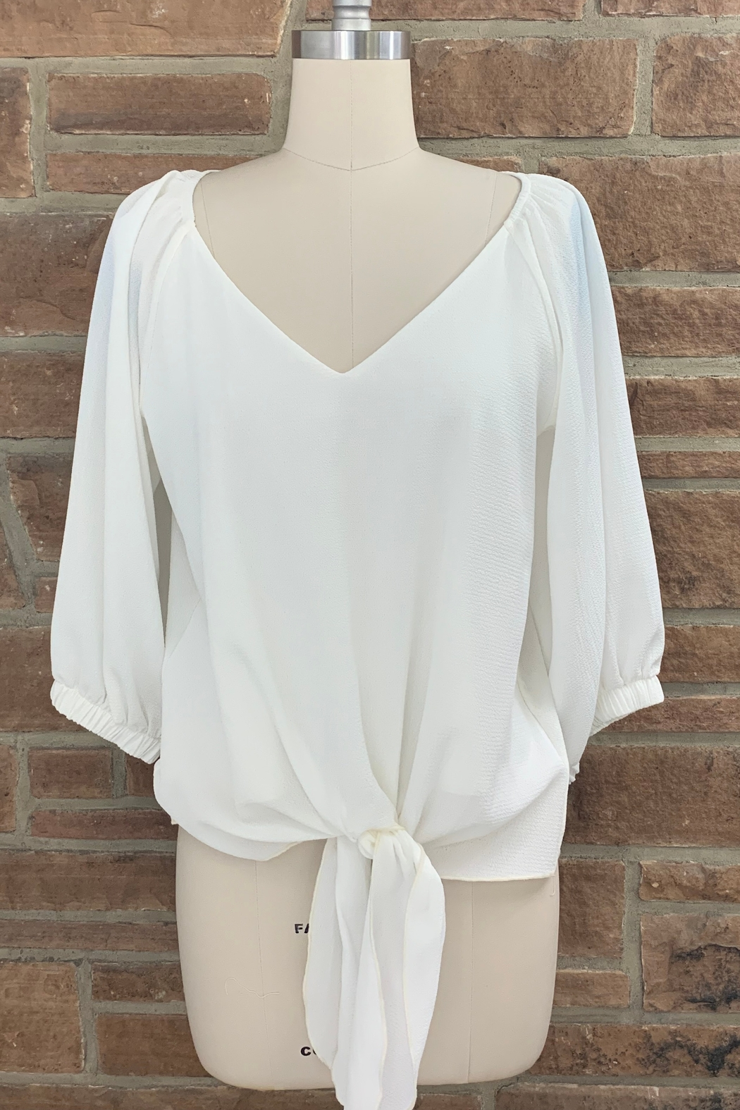 Adrienne Bubble Sleeve Blouse - Front Cropped Image