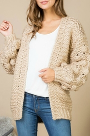 Bedford Basket Bubble Sleeve Cardigan - Product Mini Image