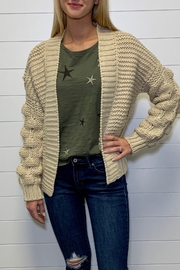 Elan Bubble Sleeve Cardigan Sweater - Front cropped