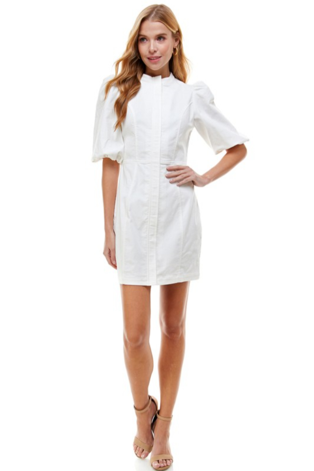TCEC Bubble Sleeve Dress - Side Cropped Image
