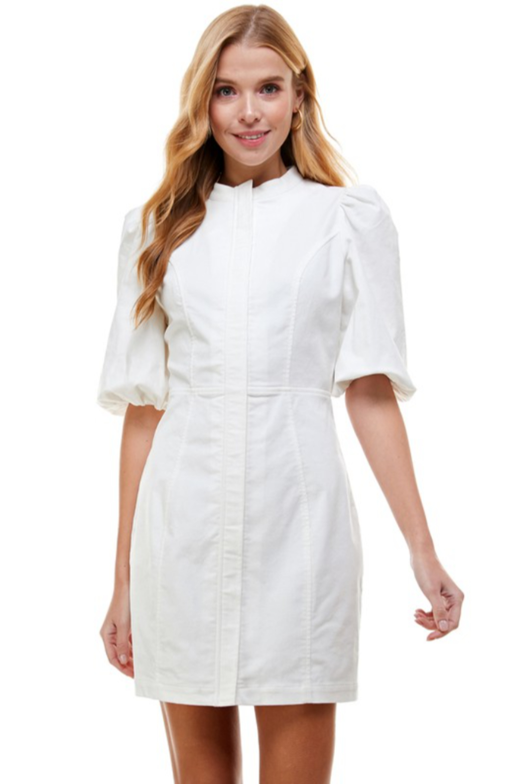 TCEC Bubble Sleeve Dress - Front Full Image