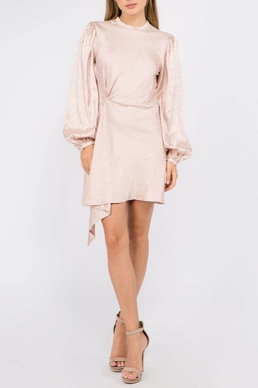 On Twelfth Bubble Sleeve Dress - Front Full Image