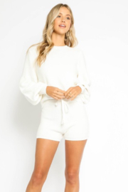 Olivaceous  Bubble Sleeve Sweater - Product Mini Image