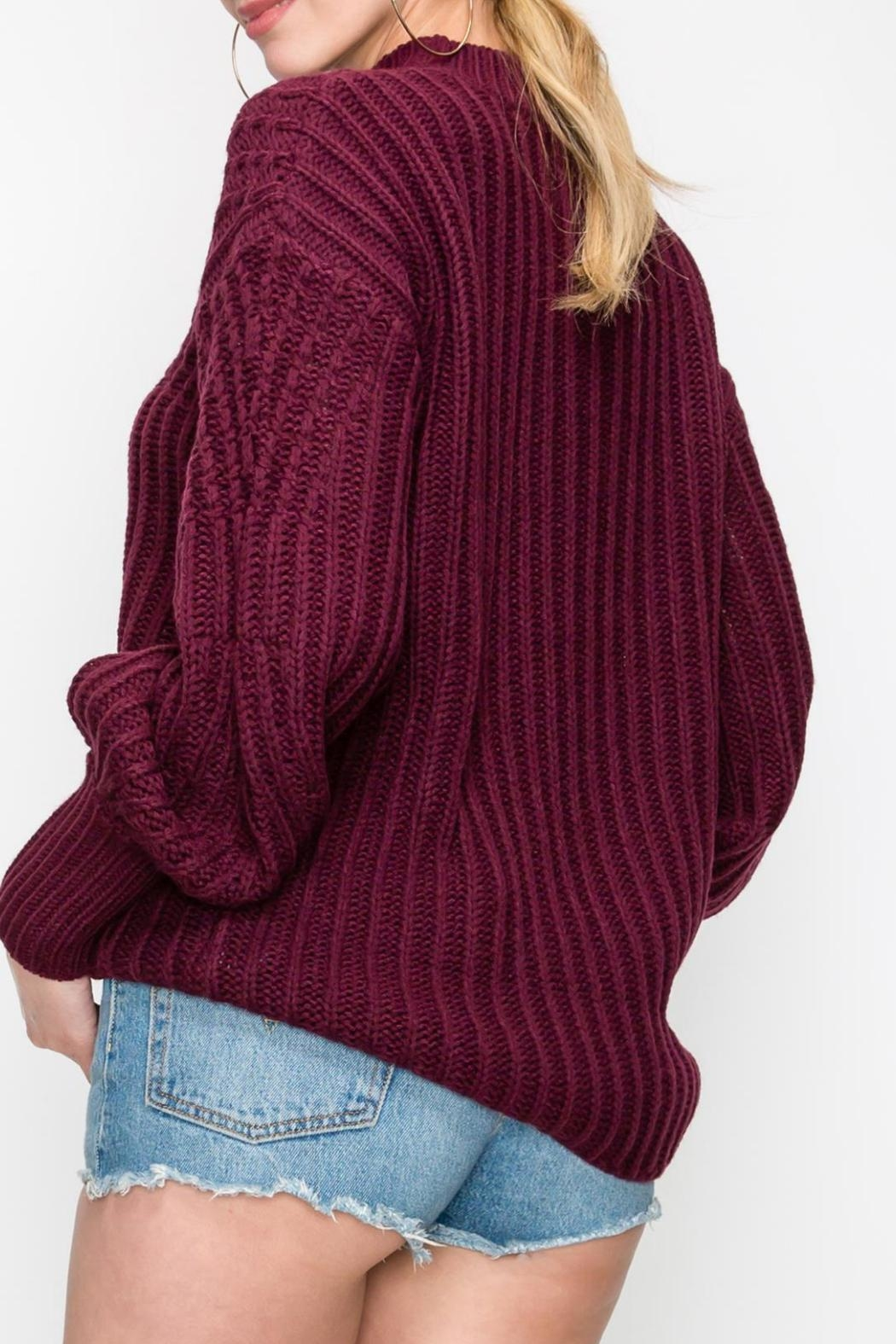 HYVE Bubble Sleeve Sweater - Front Full Image